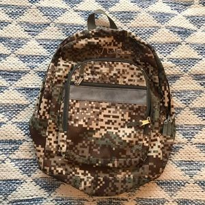 L. L. Bean Army Camo Camouflage Backpack Roomy
